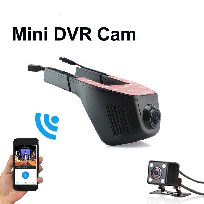 Car Dvr Mini Wifi Car Camera Full HD 1080P Dash Cam Registrator Video Recorder Camcorder Dual Lens Dvr App Control