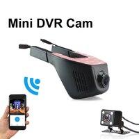 Voiture Dvr Mini Wifi Voiture Caméra Full HD 1080 P Dash Cam Registrator Vidéo Enregistreur Caméscope Double Lentille Dvr App contrôle
