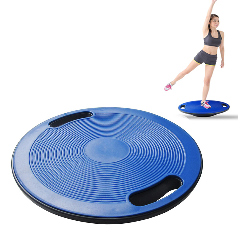 Non Slip Balance Board ABS Yoga Wobble Bear Stability Disc Waist Wriggling Round Plate Sports Waist Twisting Exerciser