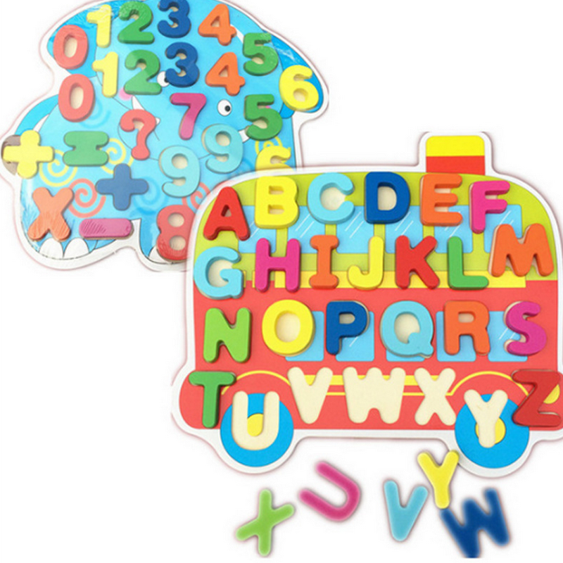 1 pc educational childrens cartoon number letter alphanumeric puzzles early childhood wooden toys baby kids creative