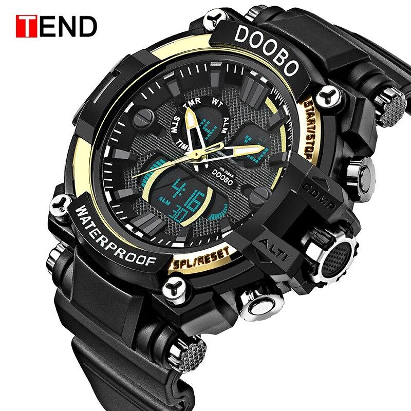TEND Army-Clock Quartz-Watch Military Waterproof Luxury Brand Digital Sport Denim-Style