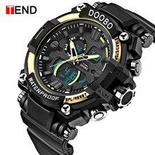 Джинсовые стильные роскошные Брендовые мужские спортивные часы водонепроницаемые цифровые кварцевые часы мужские часы военной армии мужские часы Relogio Masculino