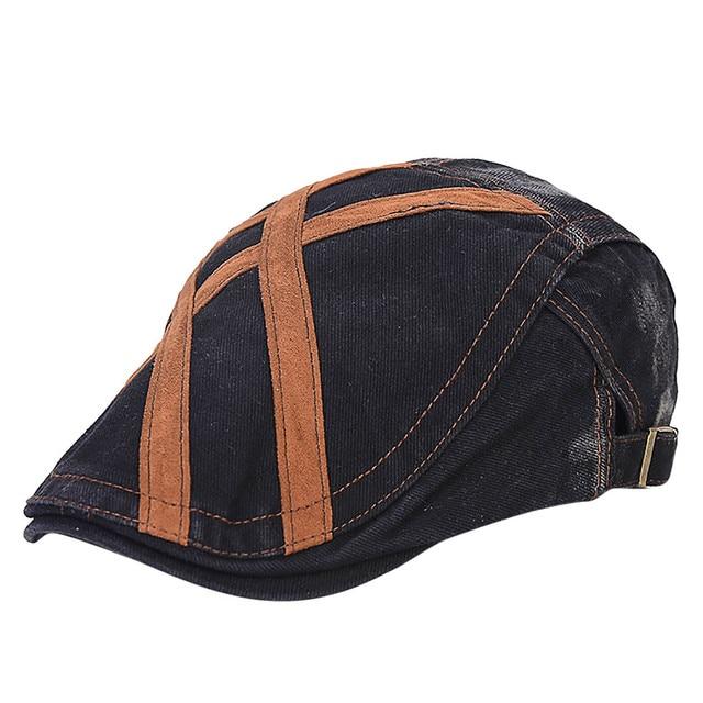 ac3a225782242 ISHOWTIENDA Unisex Navy Blue Beret Cap Wool Beret Hats Men Winter Thick Warm  Fitted Hats Male Vintage Classic Duckbill Ivy Cap
