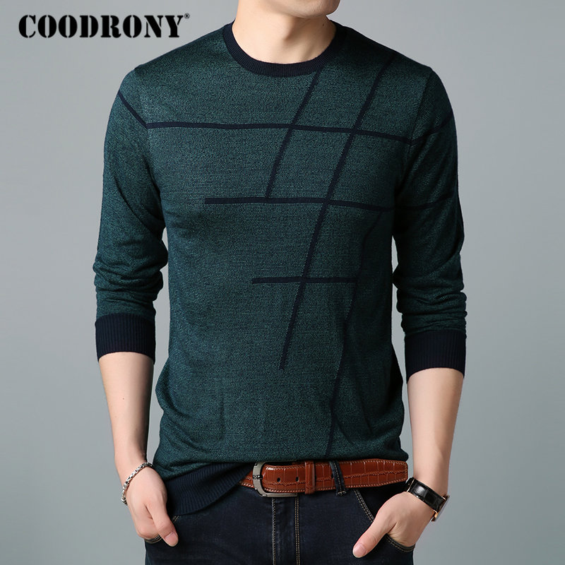 Image 2 - COODRONY Sweater Men Casual Striped O Neck Pullover Men Clothes 2018 Autumn New Arrivals Pull Homme Plus Size Thin Sweaters 8150-in Pullovers from Men's Clothing