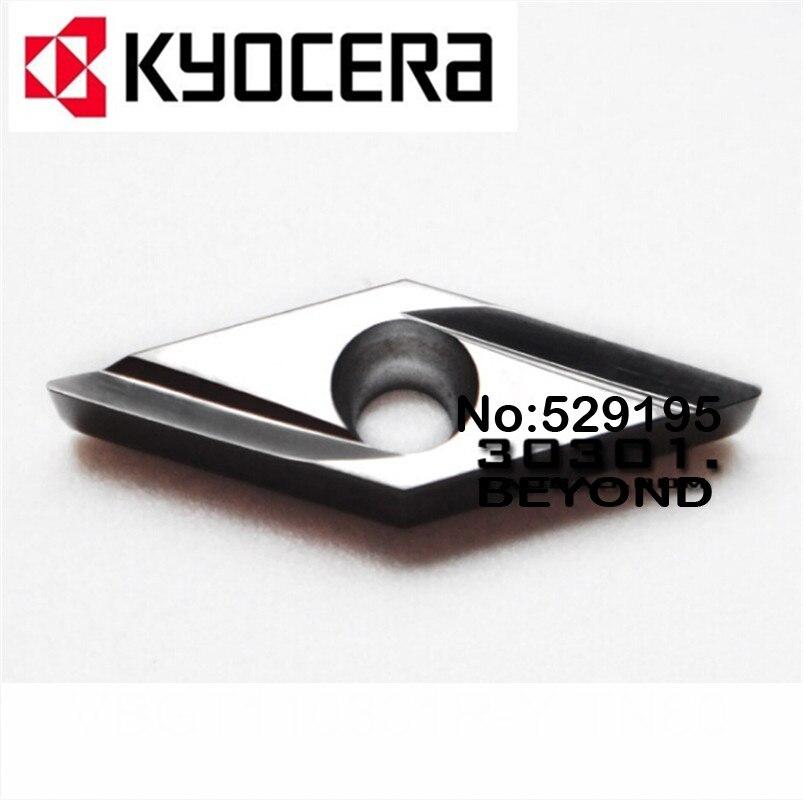 Kyocera VBGT110301R-Y VBGT110302R-Y VBGT110304R-Y TN60 Carbide Inserts VBGT110301 VBGT110302 VBGT110304 VBGT 110302 110304 Lathe