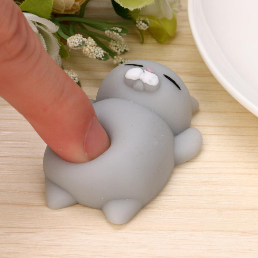The Lovely Grey Kitten Squishy Without Deformation  Super Decompression  A Slow Rising Toy Fun Kids Kawaii Kids Adult Toy