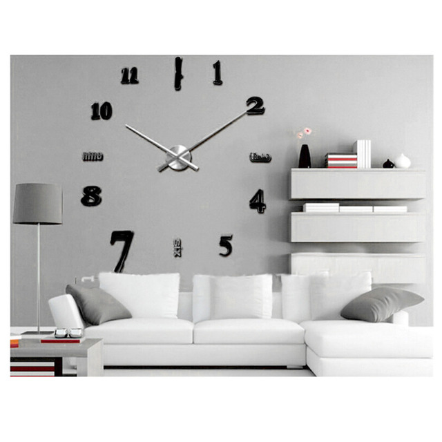 large office wall clocks. 2017 New Large Wall Clock Living Room Office Decoration Home Decor Modern DIY Clocks E