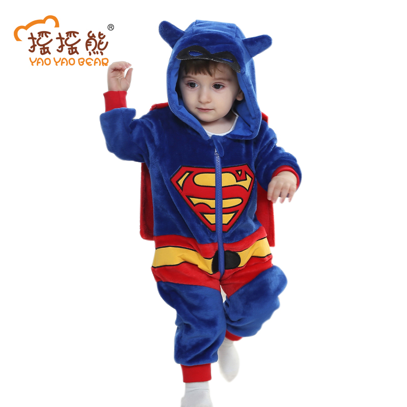 Animal Rompers Baby Clothing Newborn Autumn winter baby clothes Superman Batman 3-24m boys girls Outwear Jumpsuit YAOYAO BEAR cotton baby rompers set newborn clothes baby clothing boys girls cartoon jumpsuits long sleeve overalls coveralls autumn winter