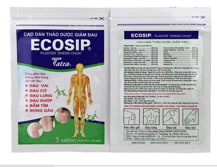 100Pcs/20bag ECOSIP Treatment Osteoarthritis Bone Hyperplasia Omarthritis Rheumatalgia Spondylosis Paste Pain Relieving Patch