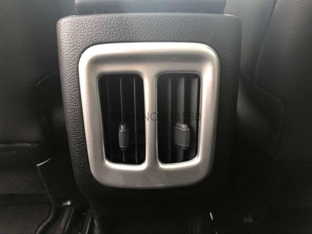 Innen Zubehör ABS Matte Hinten Klimaanlage Steckdose Dekoration Rahmen Trim Fit Für Jeep Compass 2017 2018 Zweiten Generation