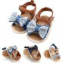 3e95edba7a Nova Princesa Verão Menina Rendas Arco Sandálias de Salto Planas Criança  Crianças Fivela Tamancos Sapatos de