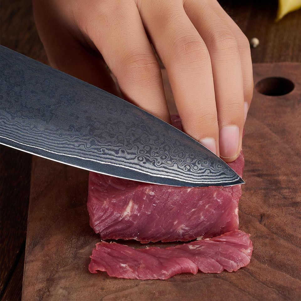 FINDKING legno di Ebano maniglia di damasco damasco lama di 8 pollici coltello da cuoco Professionista 67 strati di damasco coltelli da cucina in acciaio