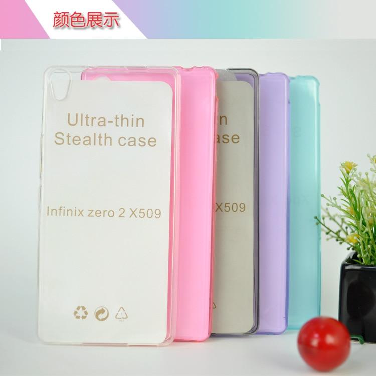 imágenes para 10 unids/lote Ultra Thin Tpu Caso de La Contraportada Para Infinix Cero 2X509 de Alta Calidad Caja Del Teléfono Protector Claro Transparente