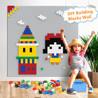 50*50 Dots LegoINGs City Base Plate for Small Bricks 40*40 CM Baseplate Board DIY Building Blocks Wall Sets Toys for Children