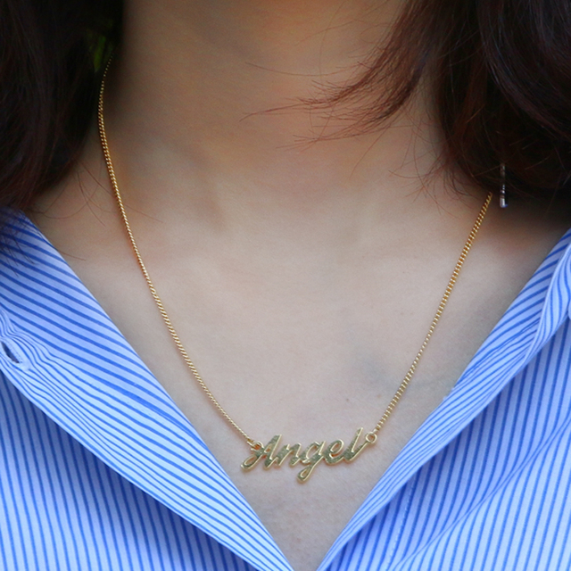 DUOYING Brand Custom Necklace Personalized Choker Necklace For Women Copper Pendant Fascinating Name Necklace Supplier for Etsy
