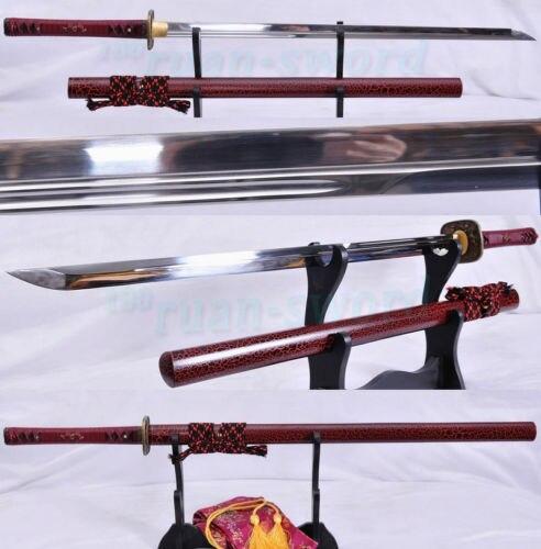 Ambizioso Aisi 1095 Alto Tenore Di Carbonio In Acciaio Giapponese Ninja Spada Unokubi Zukuri Completa Di Linguetta Della Lama