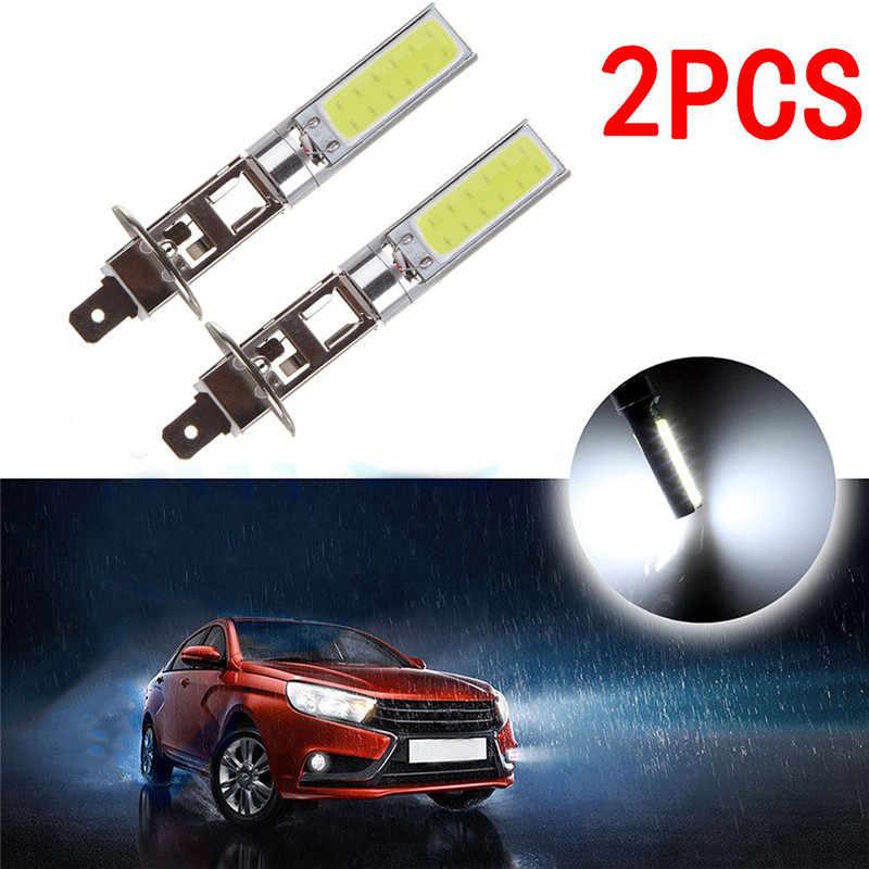 2 יחידות H1 COB רכב LED פנס פנס 6000 k מתח גבוה אוטומטי אור דיודה מנורת אבזר 12 v רכב סטיילינג ערפל אור הנורה
