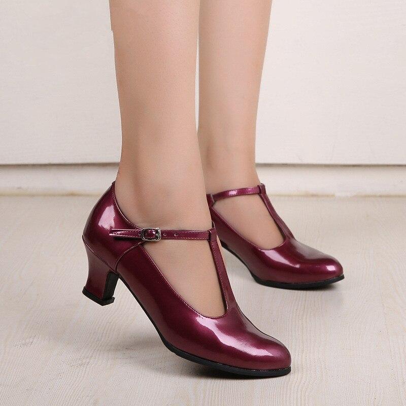 New Womens Modern Dance Shoes Closed Toe Indoor Tango Rumba Ballroom Party Dancing Shoes Heels