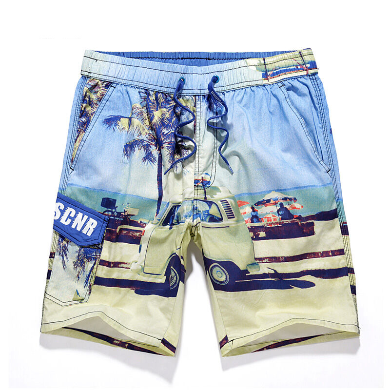 2017 Mens New Board Shorts Summer Quick Dry Surf Shorts Men Swim Shorts Beachwear Outdoor Sport Shorts Bathing Hot Spring Wear
