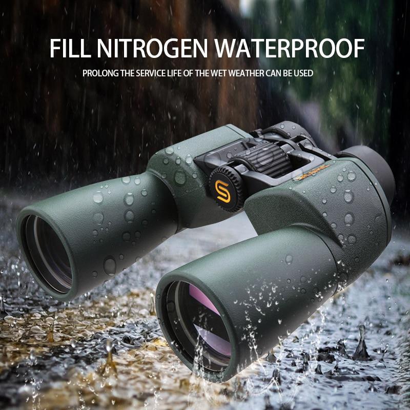 SCOKC Gran Angular Potente hd 10x50 binoculares bak4 FMC power zoom - Camping y senderismo - foto 3