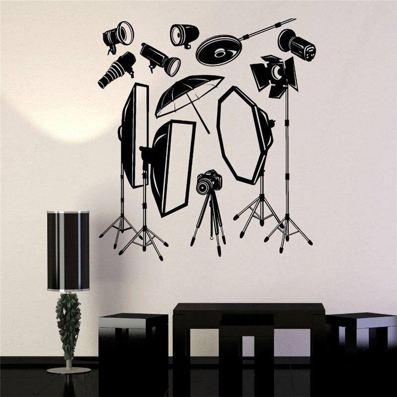 Cinema Vinyl Wall Decal Photo Studio Equipment Photographer Mural Art Wall Sticker Studio Room Office Home Decoration