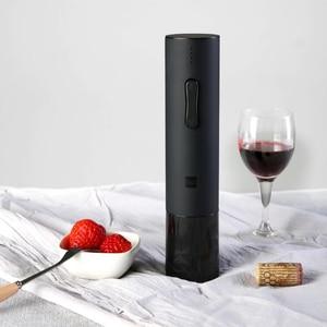 Image 2 - Youpin Huohou otomatik kırmızı şarap şişesi elektrikli tirbuşon 6S açacağı folyo kesici Cork Out alet setleri ev düğün parti için