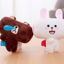 1 pcs 20cm Brown Square head Bear Cony Square head Rabbit Cute Kawaii Soft Plush Toy