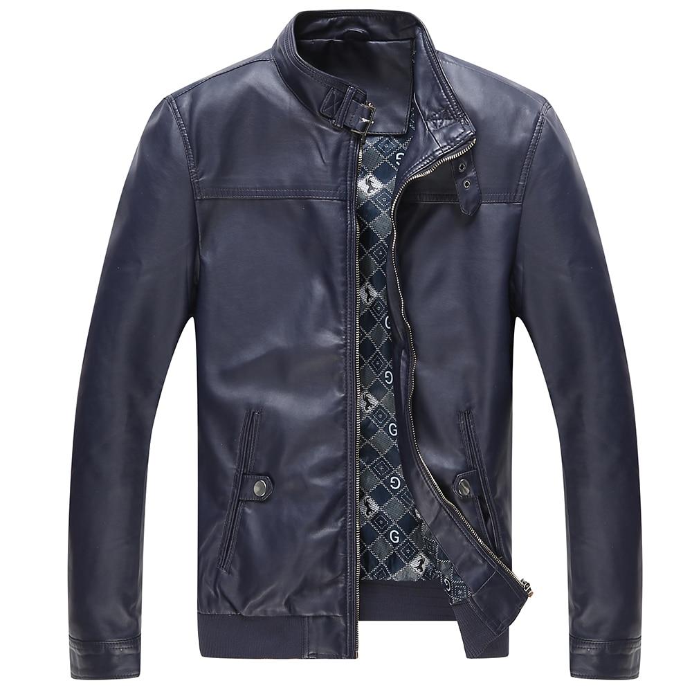 jaqueta de couro masculina moška usnjena jakna krznen srednjih let - Moška oblačila - Fotografija 4