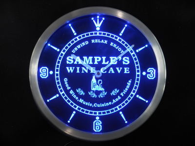 ncqw-tm Name Personalized Custom Home Wine Cave Bar Beer Neon Sign LED Clock Wholesale Dropshipping