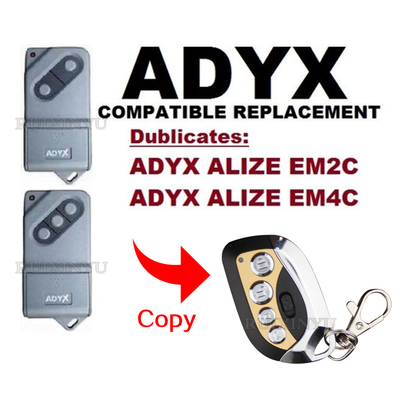43392mhz:  ADYX ALIZE EM2C/ADYX ALIZE EM4C Compatible Remote control High quality 433.92Mhz copy control Garage door gates remote control - Martin's & Co