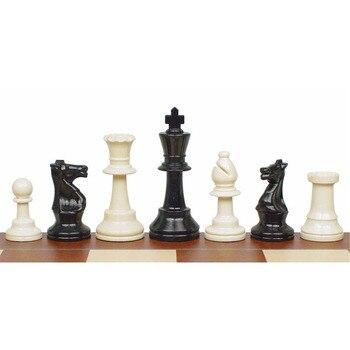 Juego de ajedrez BSTFAMLY piezas de ajedrez de plástico altura del rey 95mm Juego de ajedrez estándar para competiciones internacionales LA109
