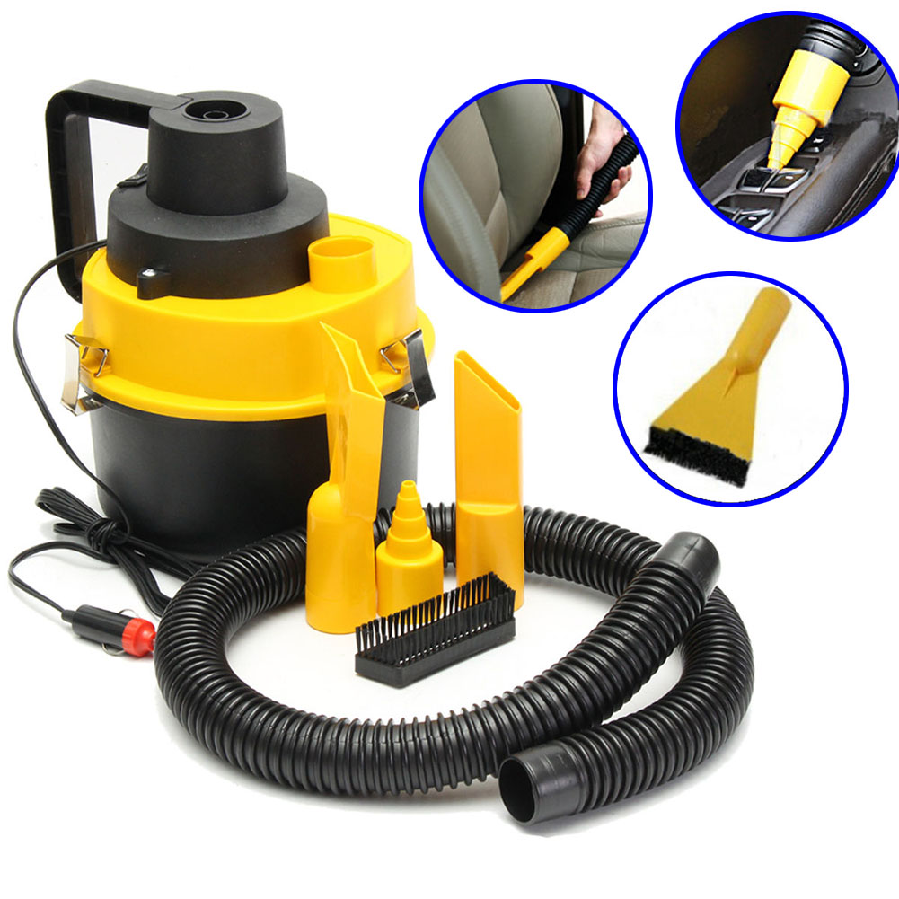 Vacuum-Cleaner Turbo Hand-Held Shop Portable 12V Inflator Wet for Car Fits Dry