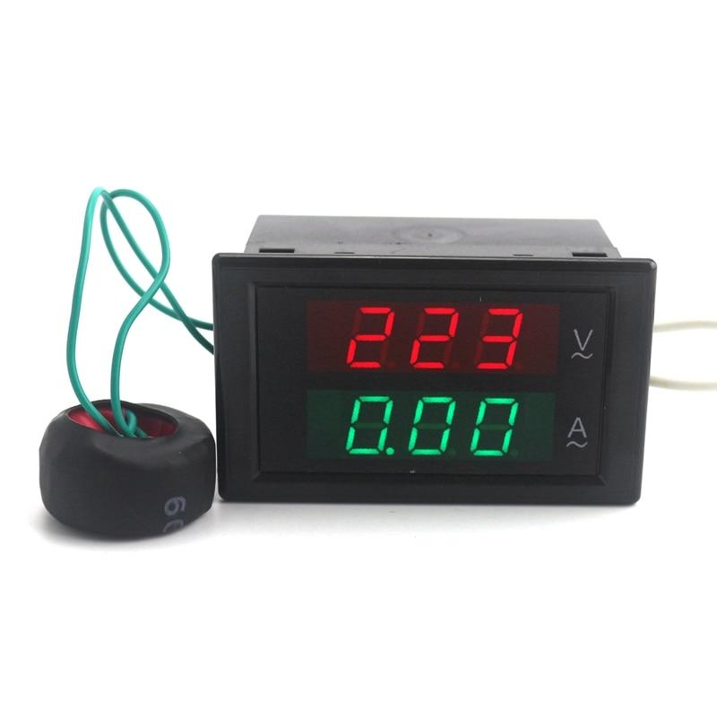 AC80-300V AC 0-100A Led Digital AC Voltmeter Ammeter Current Meter Ampere Panel Meter Volt Amp Gauge Free shipping ...