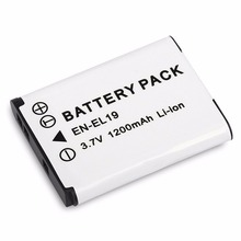 3.7V 1200MAH Rechargeable Li-ion Battery Digital Camera Replacement Battery Pack Suitable For Nikon EN-EL19 Camera bc 65 recharger battery for nikon surveying equipment nikon bc 65 battery pack