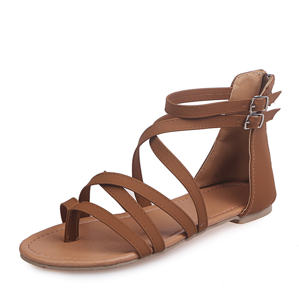SAGACE Womens Fashion Casual Rome Solid Open Toe Beach Sandals Zip Flat With Shoes Sexy High Quality Outside Solid Ladies ShoesSAGACE Womens Fashion Casual Rome Solid Open Toe Beach Sandals Zip Flat With Shoes Sexy High Quality Outside Solid Ladies Shoes