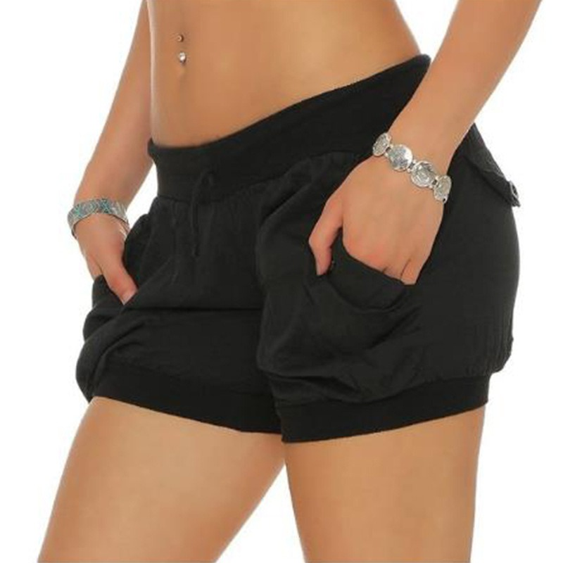 New Brand   Shorts   Women 2018 Casual   Shorts   Loose Pockets Drawstring Plus Sized 3XL Pink Black Khaki Summer Ladies   Shorts   T8