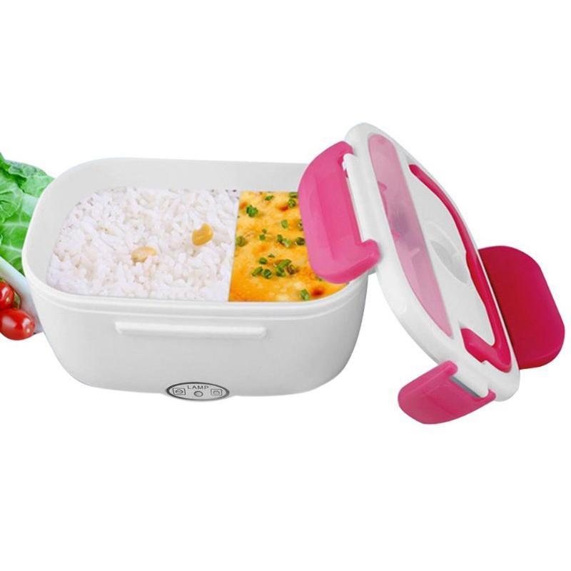 Portatile Riscaldamento Elettrico Scatola di Pranzo con il Cucchiaio Contenitore di Alimento di Riso Più Caldo Cibo Bento Box per la Casa Ufficio