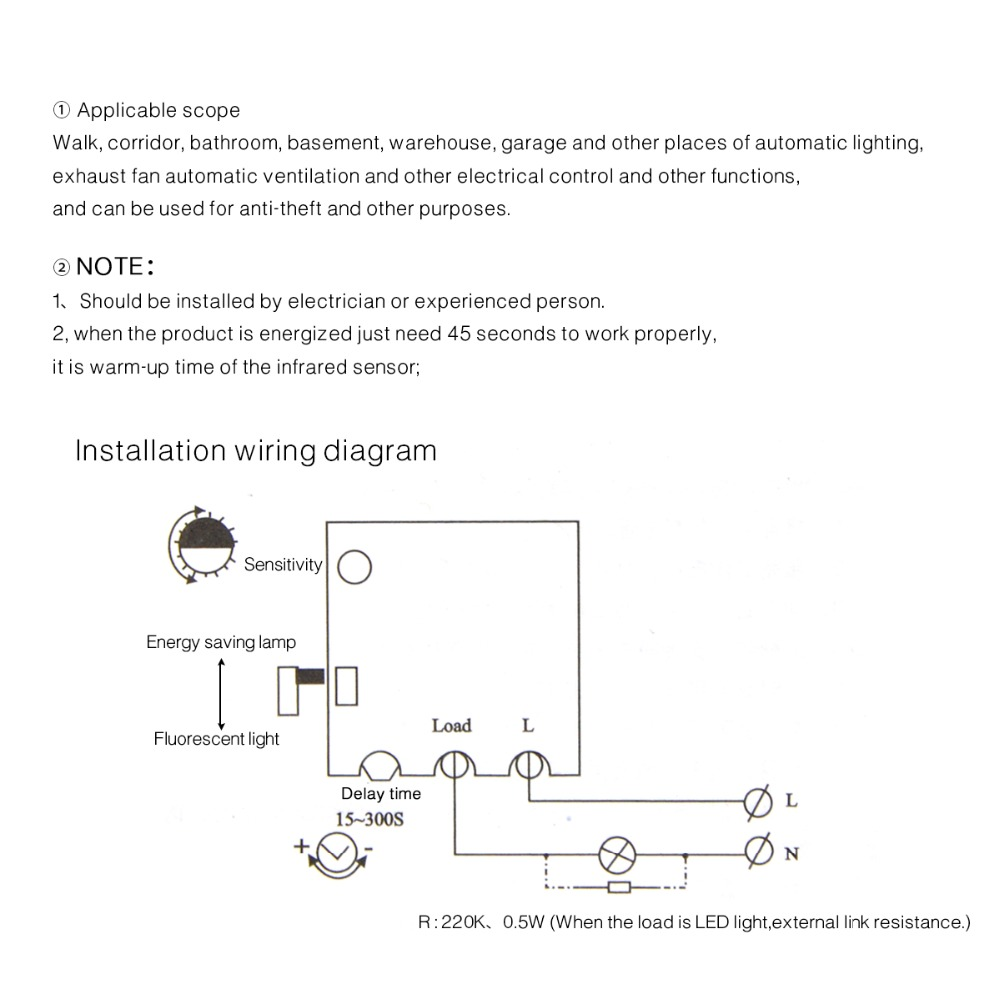 Electrical Wiring Diagrams Lighting Warehouse Basic Basement Diagram Aliexpress Com Buy Pir Motion Sensor Switch Wall Recessed Body Heating