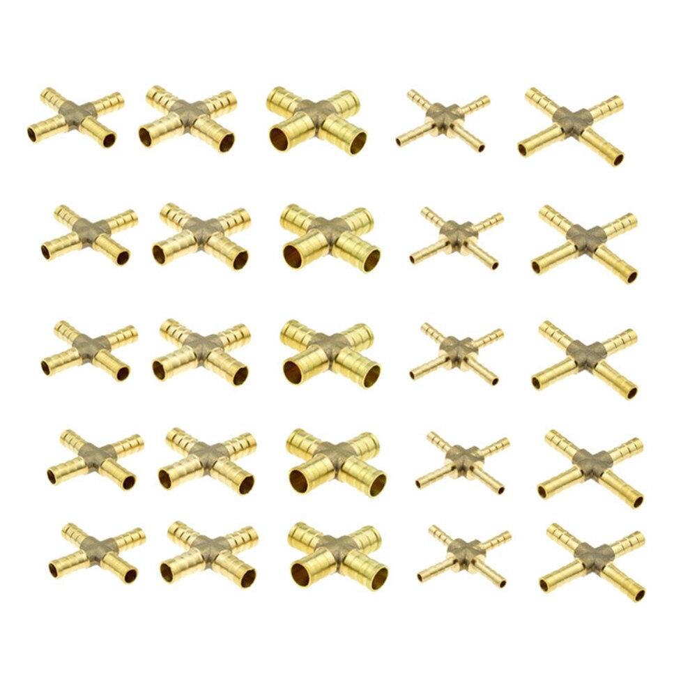 5 Stücke 6-12mm Schlauch Barb 4 Möglichkeiten Kreuz Geformt Messing Rohr Fitting Gerade Kupfer Stacheldraht Paar Für Luft Wasser Öl GroßEr Ausverkauf Sanitär