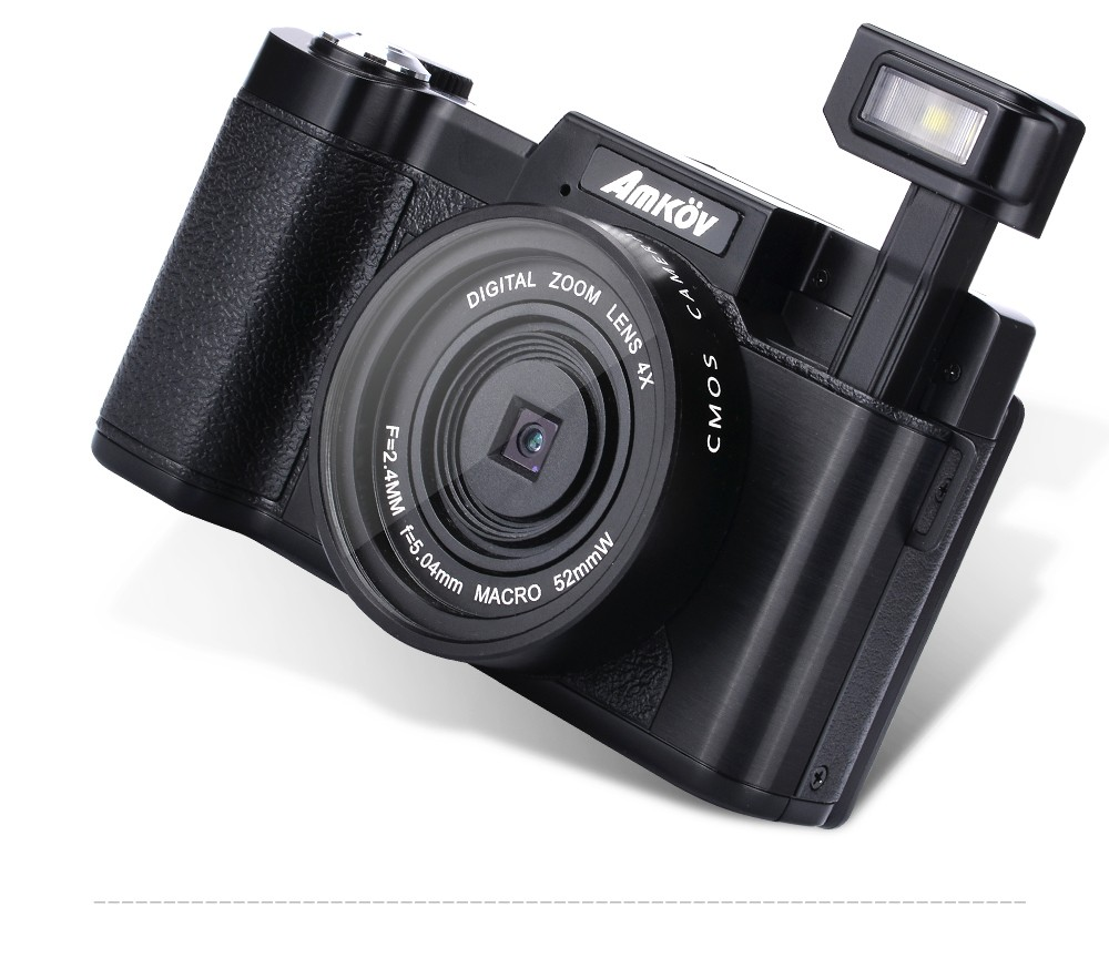 Amkov AMKR2 CDR2 24MP 1080P 4X Digital Zoom Camera Video Camcorder with 3 Inch Rotatable TFT Screen 52mm Lens Screw Adapter мебельная заглушка kreg кедр 50 шт p cdr