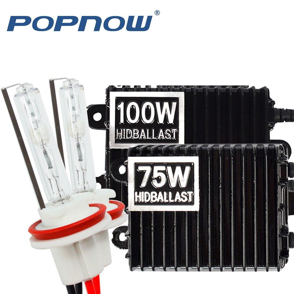 H1 Xenon H7 HID Kit H4 H1 H11 H8 9005 HB3 9006 HB4 881 Xenon Hid Ballast For Car Light Headlight 4300K 6000K 8000K 24V 75W 100W