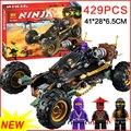 Bela 10524 vs 06032 ninjagoes carro compatible pequeñas partículas ladrillos bloques de construcción de juguetes diy modelo juguetes para niños de regalos