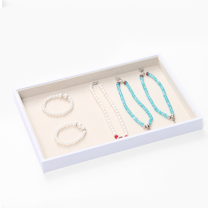 Fashion Suede Velve Jewelry Rings Display Tray Organizer Jewelry Box Case Jewelry Casket Rack for Ring Earring caja 35*24*3cm