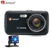Junsun IPS Car DVR Camera Dash Cam FHD 1080P Video Recorder Registrator with LDWS ADAS Night Vision Dual Lens Car Camcorder DVRs