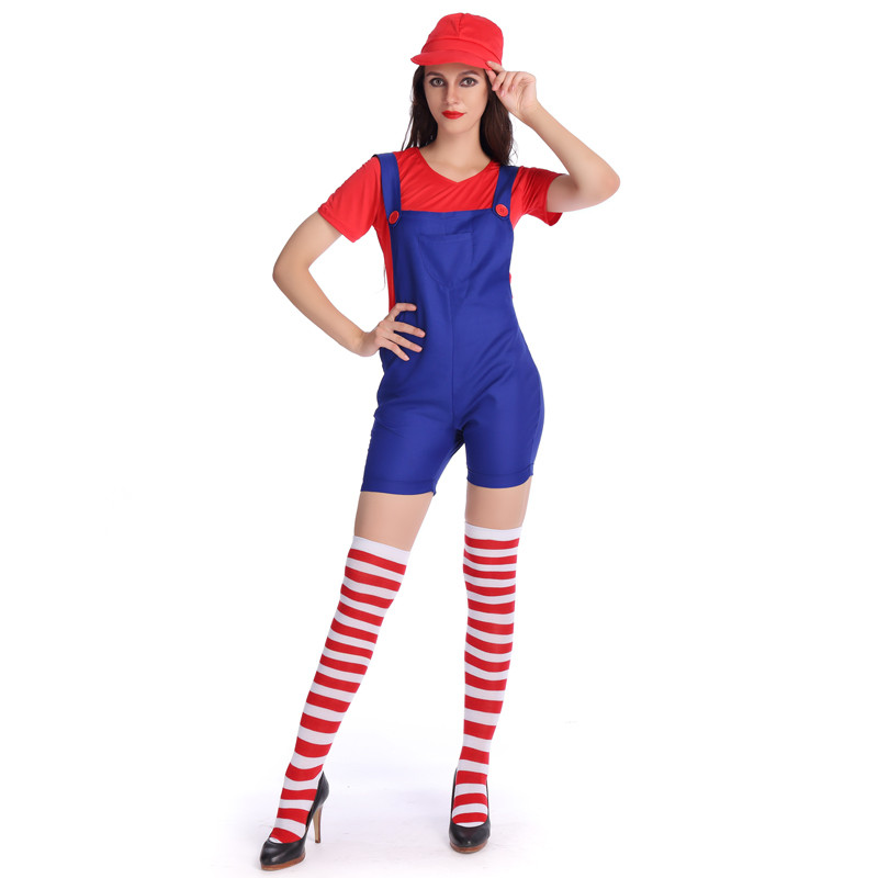 2018 New Halloween Adult Sexy Super Mario Luigi Brothers Costumes Women Plumber Costume Jumpsuit Fancy Cosplay Clothing-in Holidays Costumes from Novelty ...  sc 1 st  AliExpress.com & 2018 New Halloween Adult Sexy Super Mario Luigi Brothers Costumes ...