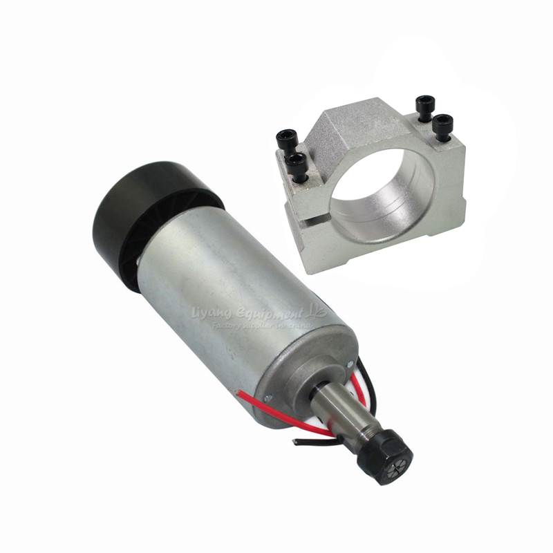 CNC machine spindle motor 300W DC 12-48 52MM Clamp DIY PCB router milling machine parts free shipping 500w er11 collet 52mm diameter dc motor 0 100v cnc carving milling air cold spindle motor for pcb milling machine