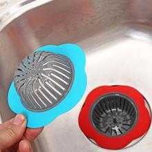1 unid en forma de flor colector de pelo tapón del fregadero de drenaje del filtro bañera Trapper agujero de drenaje filtro para baño cocina S3