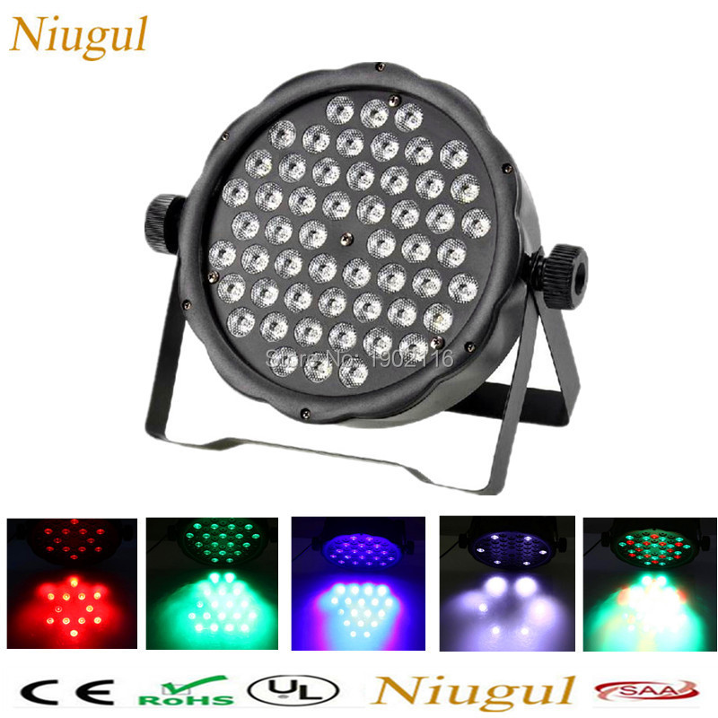 Niugul 54X3W LED Par Light LED RGBW Wash Effect Disco Light DMX512 Stage Strobe Lights KTV Home Party DJ Equipment Free Shipping fast shipping led 54x3w rgbw led flat par rgbw color mixing dj wash light stage uplighting ktv disco dj dmx512