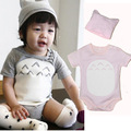 Cute Totoro  2017 Summer Style Baby Short Sleeve Bodysuits Soft Cotton Babies Dress Newborn Boys Girls Clothing Set