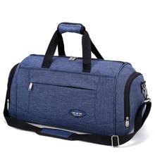 Большие емкость мужчины багаж путешествие вещевой сумки женщин выходные плечо многофункциональный бизнес сумка